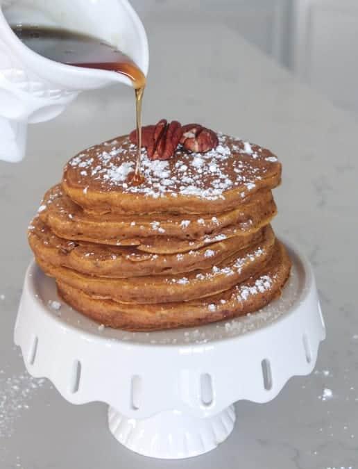 Pumpkin Pecan Buttermilk Pancakes