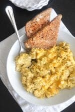 Taco Toasted Green Chili Scrambled Eggs
