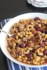 Turkey Taco Soup Mac