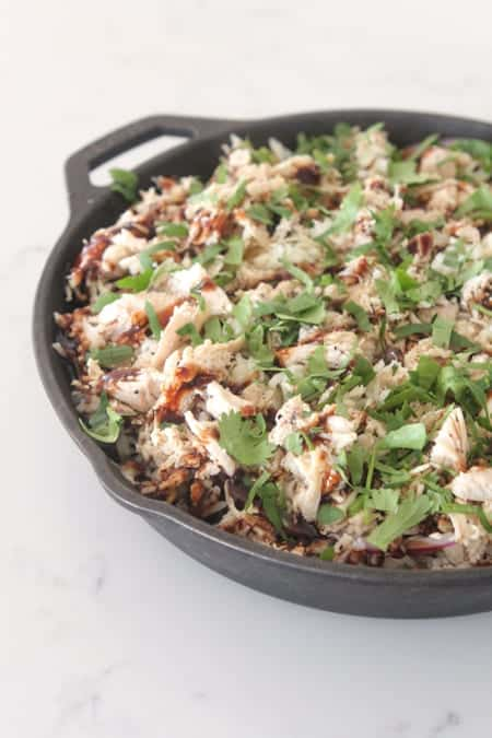 BBQ Chicken Rice Bake