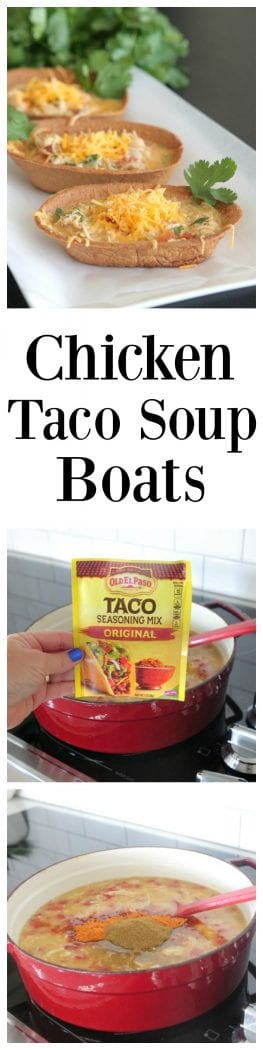 Chicken Taco Soup Boats pin