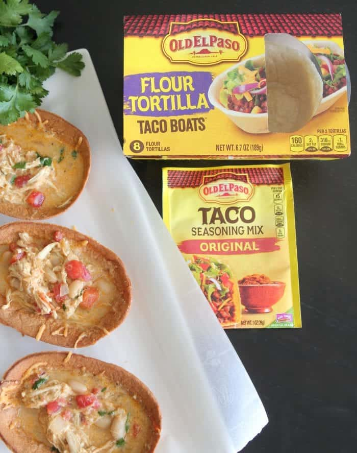 Chicken Taco Soup Boats