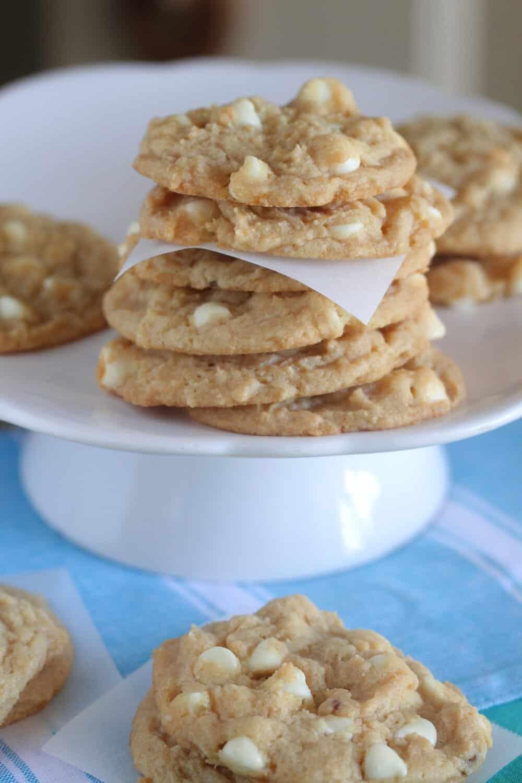 lemon cookies on serving plate
