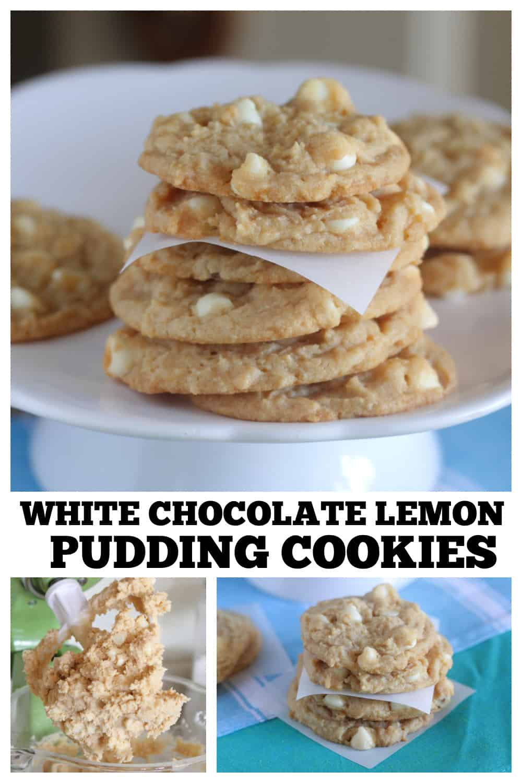 photo collage of lemon cookies