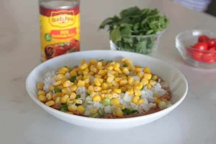 Layered Chicken Enchilada Bowls