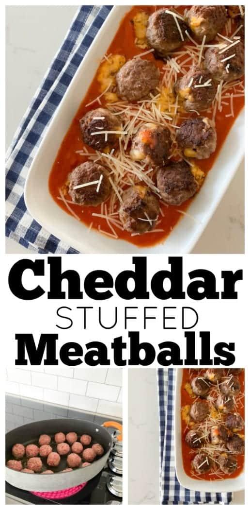 Cheddar Stuffed Homemade Meatballs