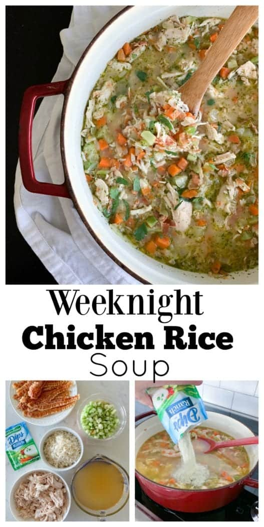 Weeknight Chicken Rice Soup