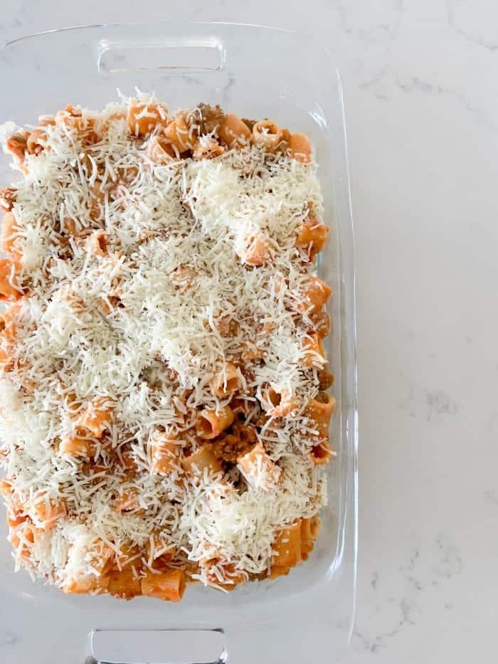Creamy 3 Cheese Rigatoni
