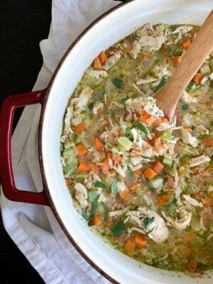Weeknight Chicken Rice Soup