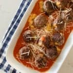 Cheddar Stuffed Homemade Meatballs