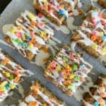 Fruity Pebbles Cookie Bars