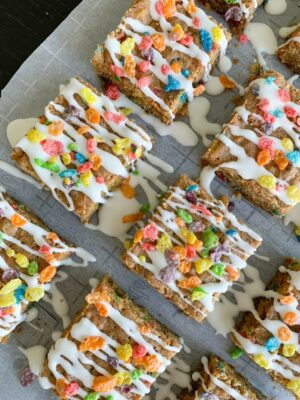 Image of Fruity Pebbles Cookie Bars