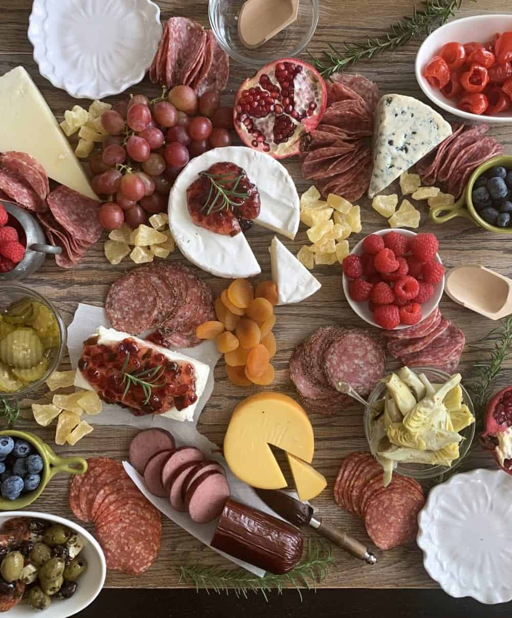 dried fruits added to charcuterie board