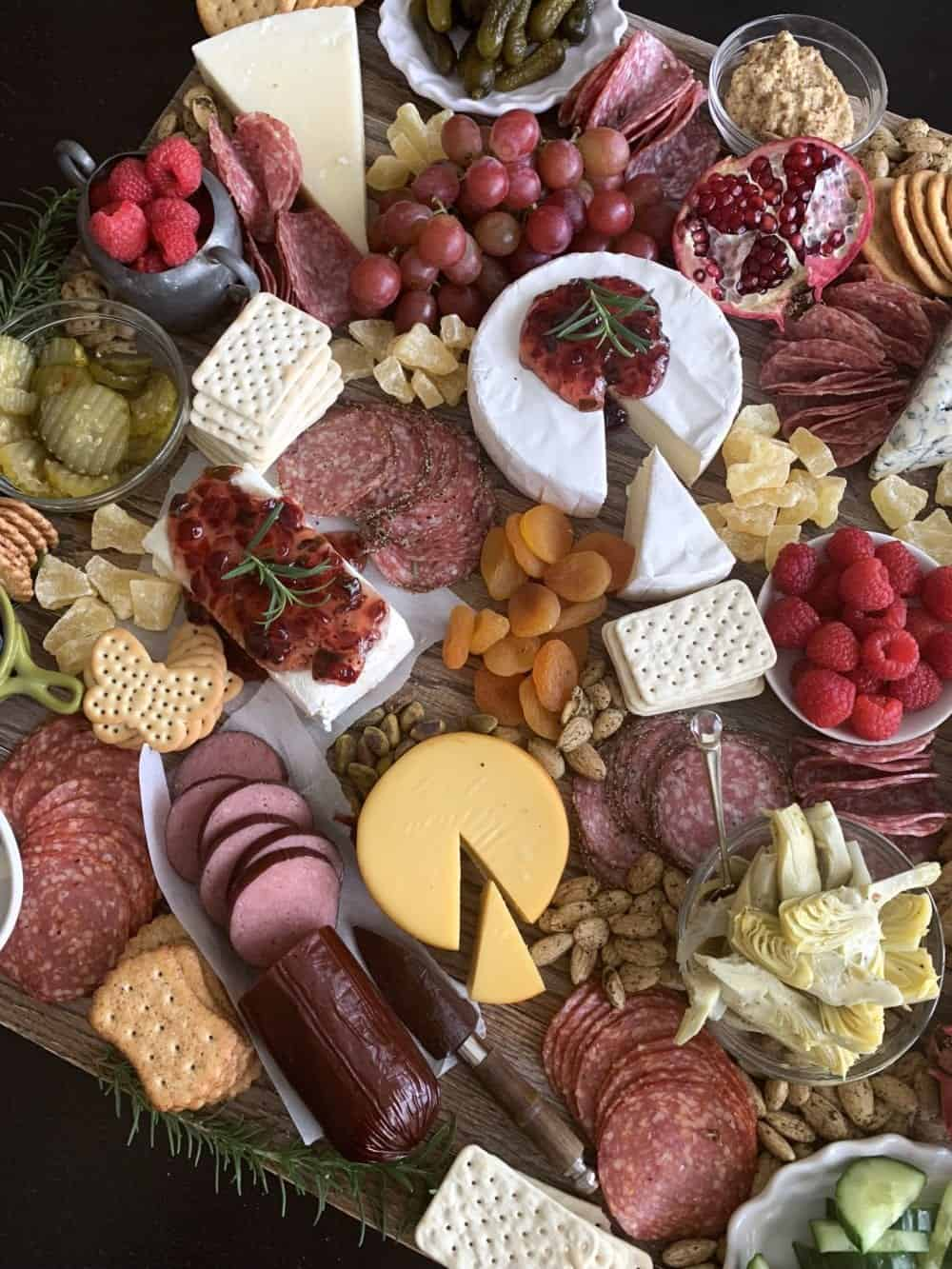 finished charcuterie board