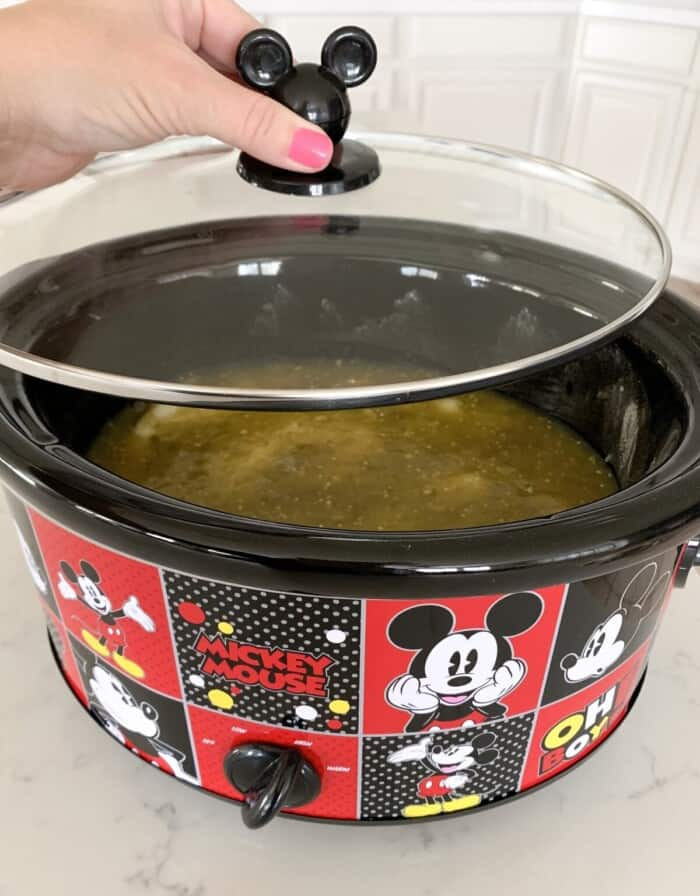 covering lid on crockpot for shredded beef recipe