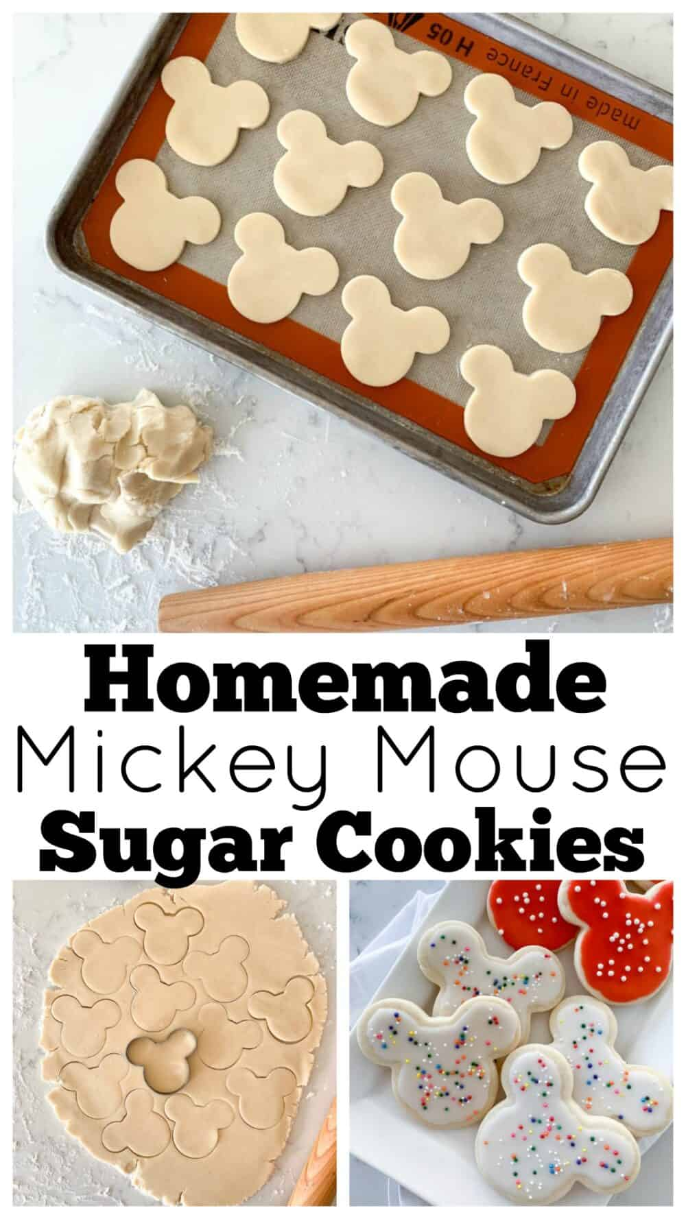 photo collage mickey mouse sugar cookies