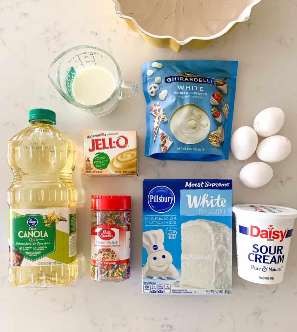 funfetti cake ingredients