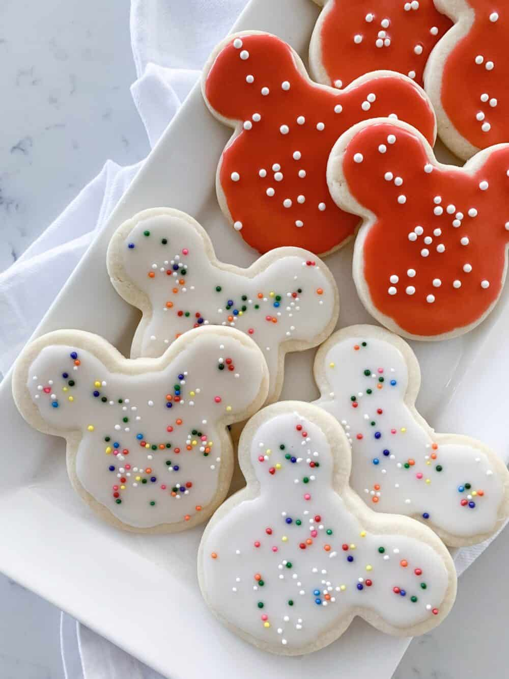 mickey mouse sugar cookies iced