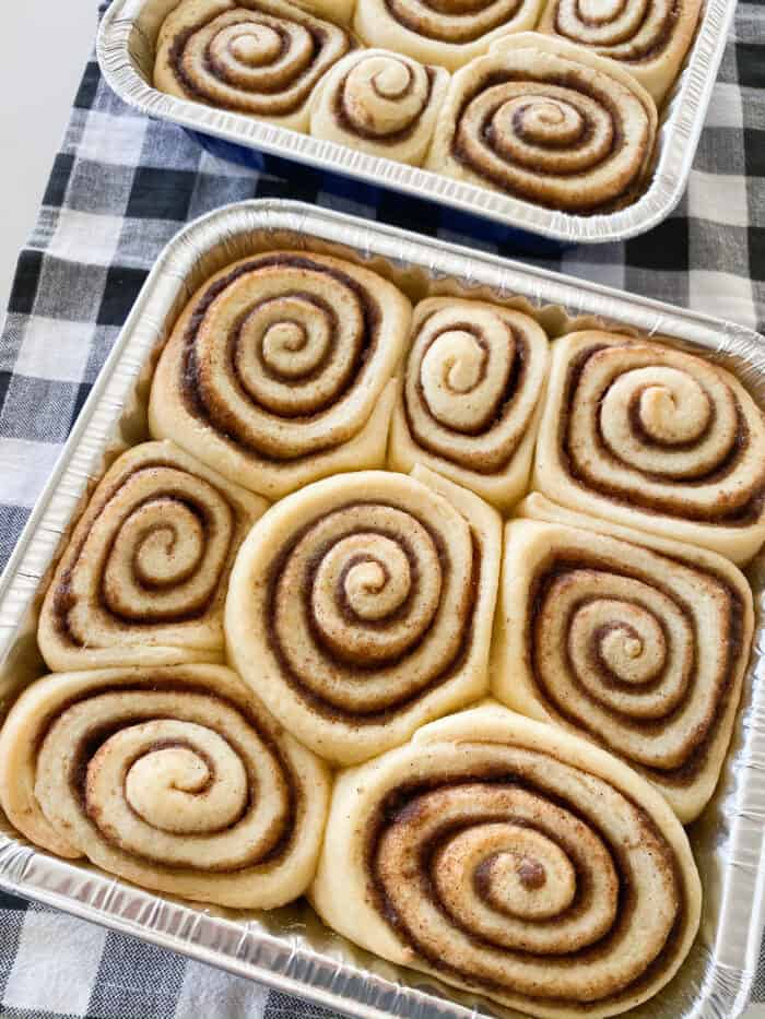baked unfrosted cinnamon rolls