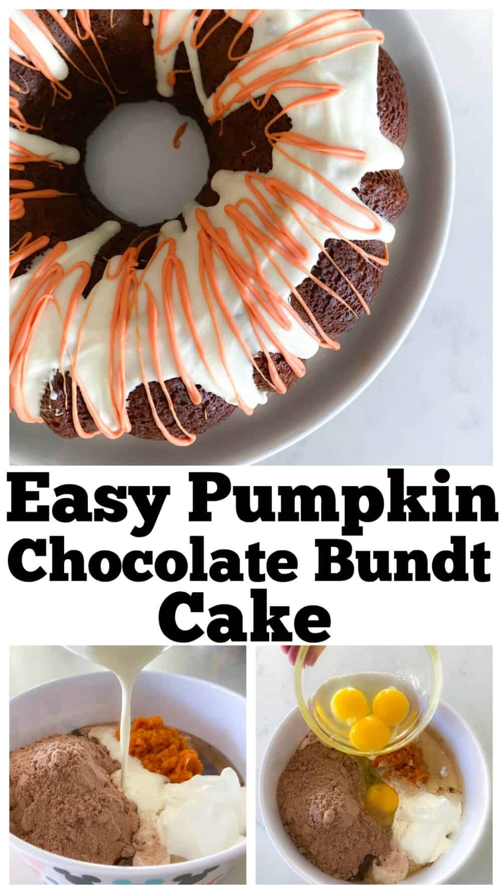 chocolate bundt cake photo collage