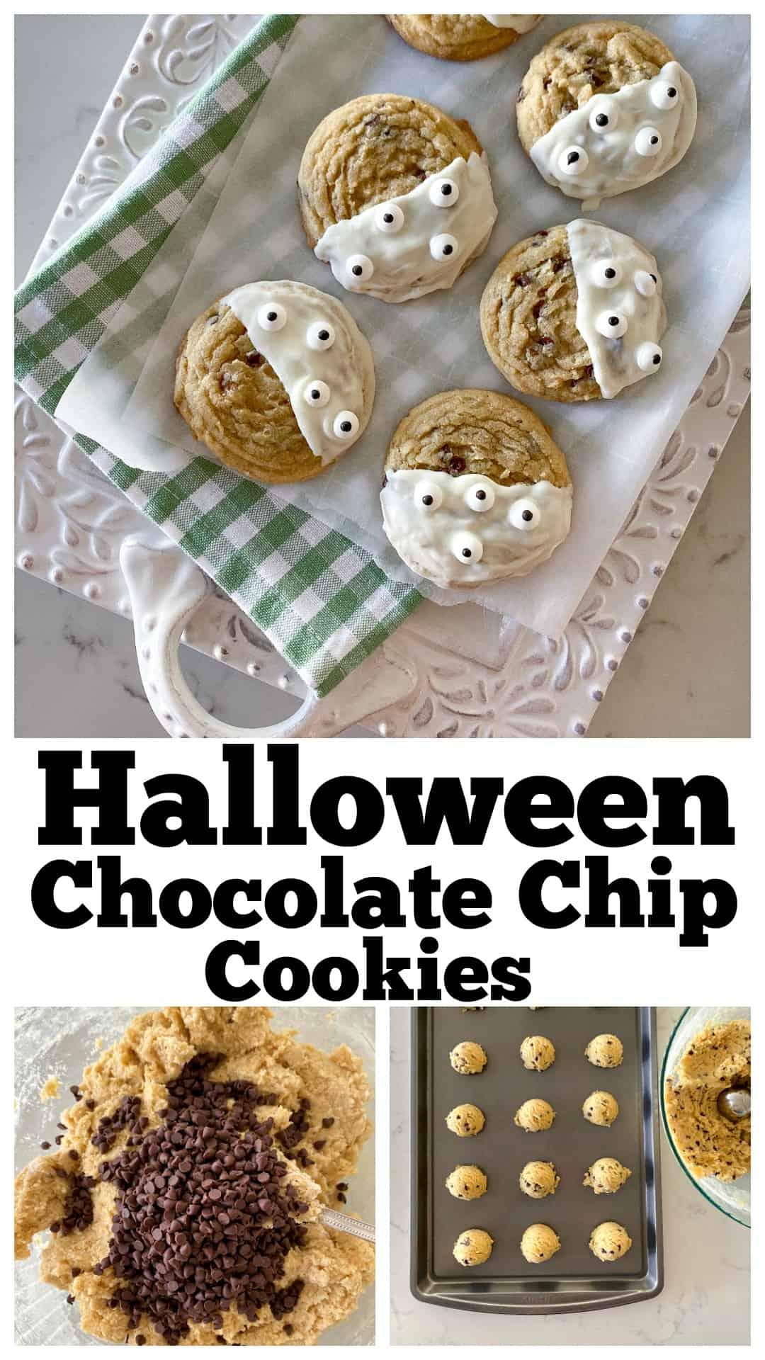 halloween cookies photo collage