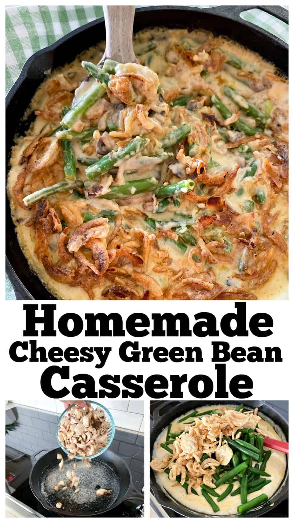 photo collage for best green bean casserole