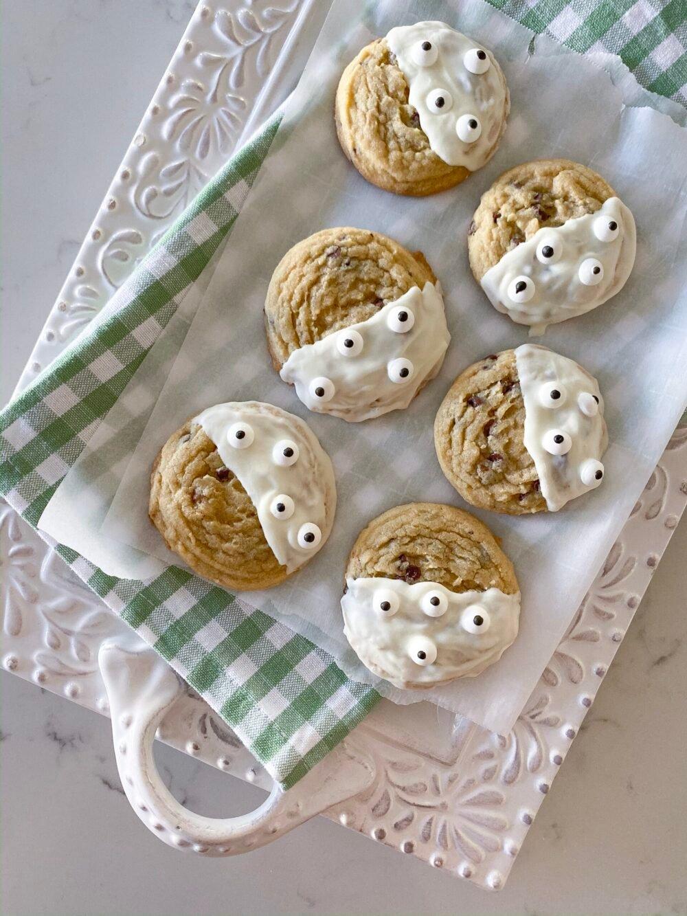 halloween cookies on serving plate