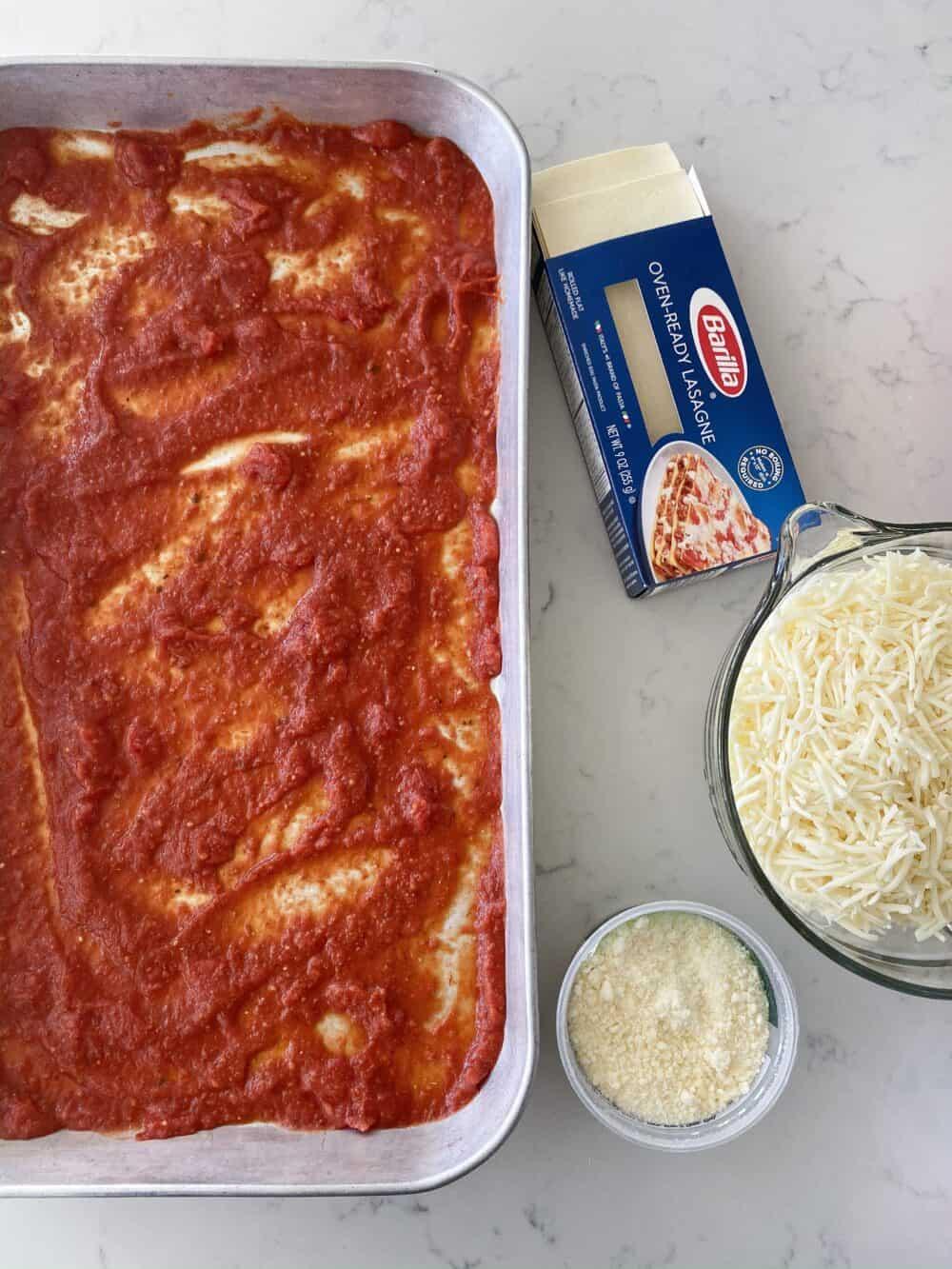 meat sauce for easy lasagna recipe