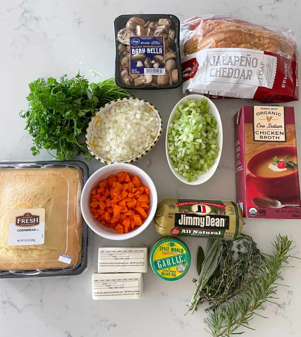 ingredients for thanksgiving stuffing recipe