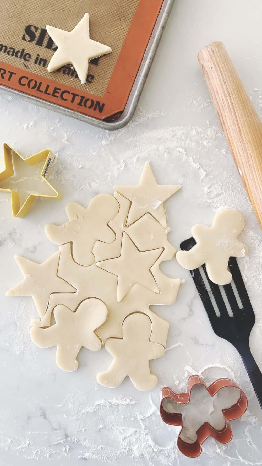 sugar cookie dough cut outs