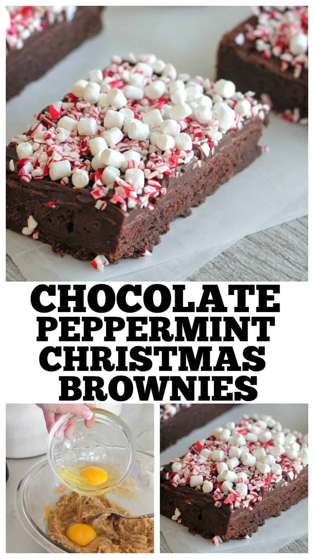 photo collage of christmas brownies