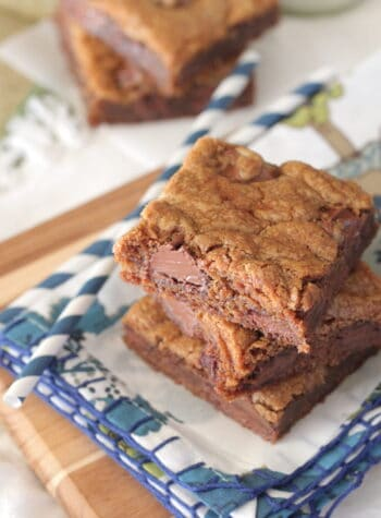 gingersnap cookie bars stacked