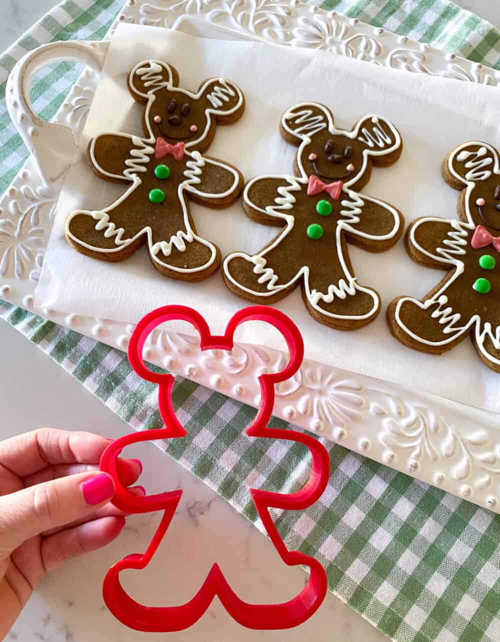 Mickey Mouse Gingerbread Man Cookies