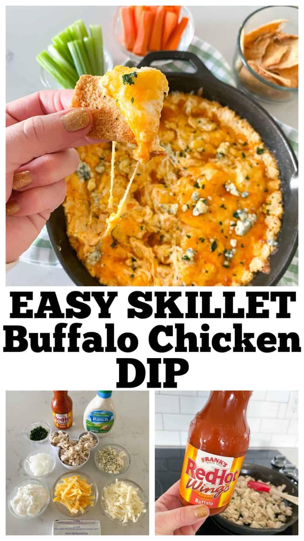 photo collage for buffalo chicken dip