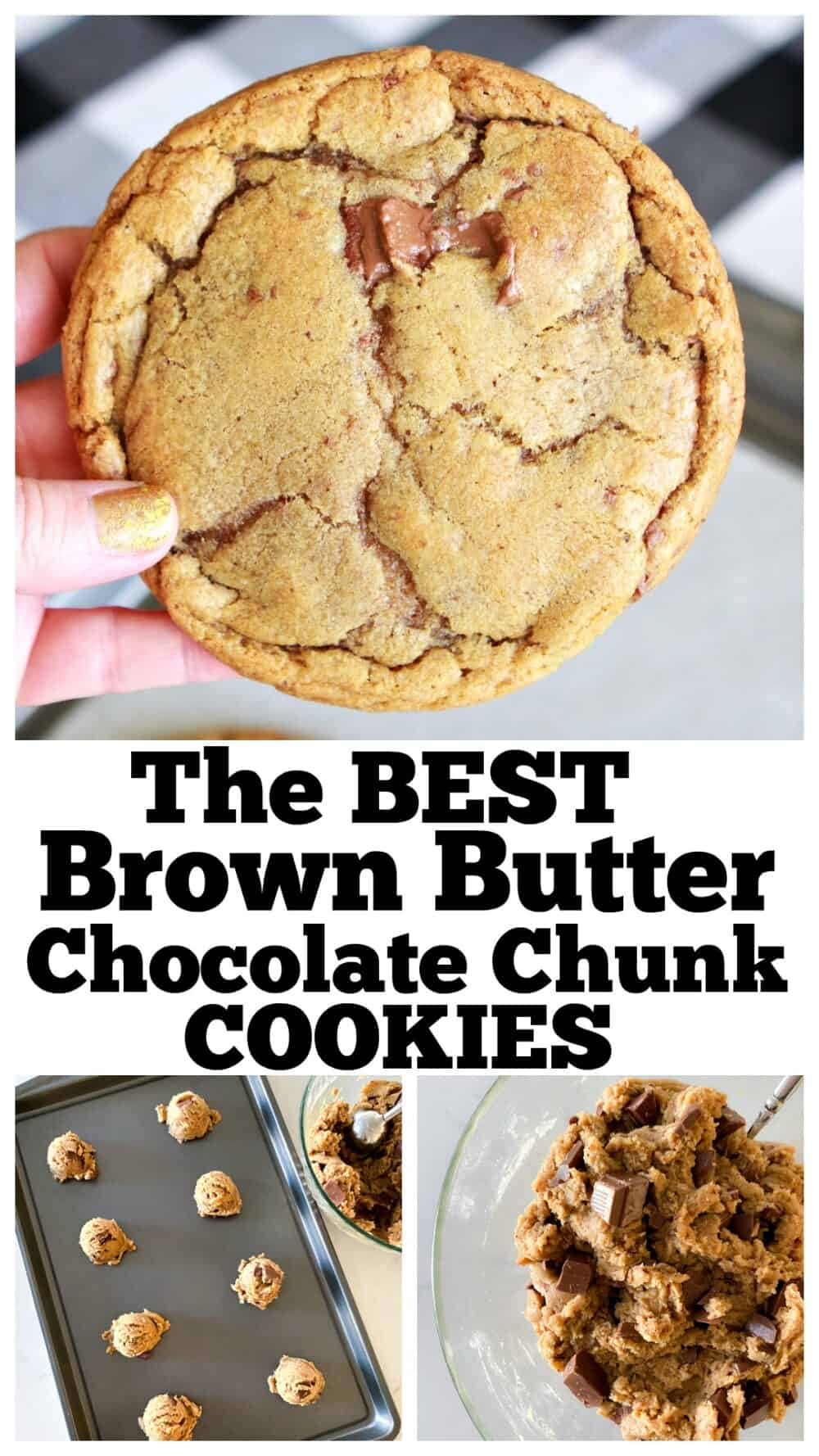 photo collage of brown butter cookies