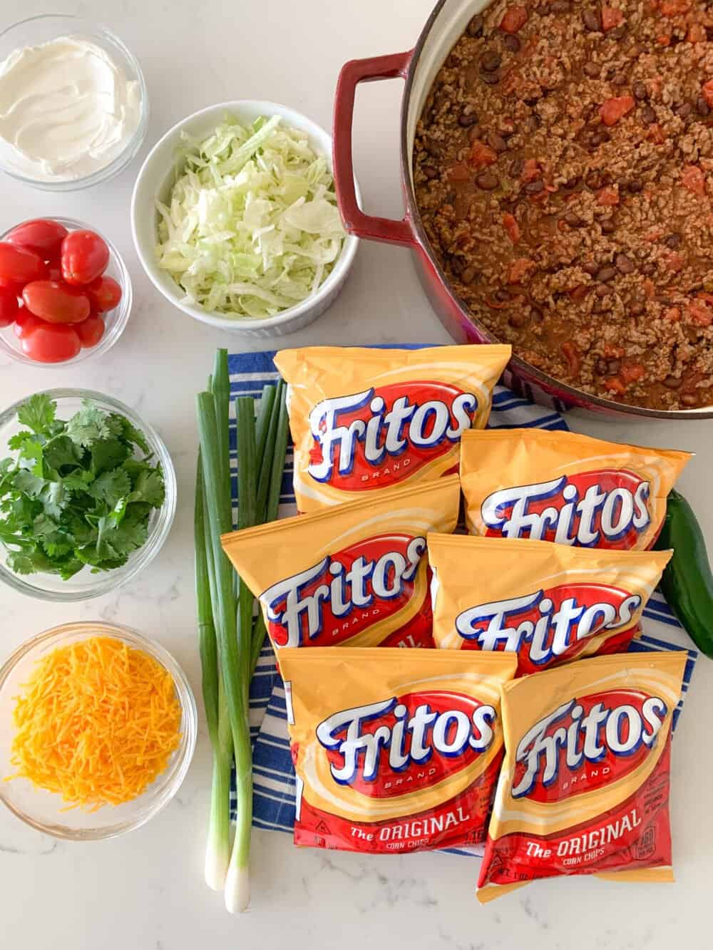 ingredients for walking taco