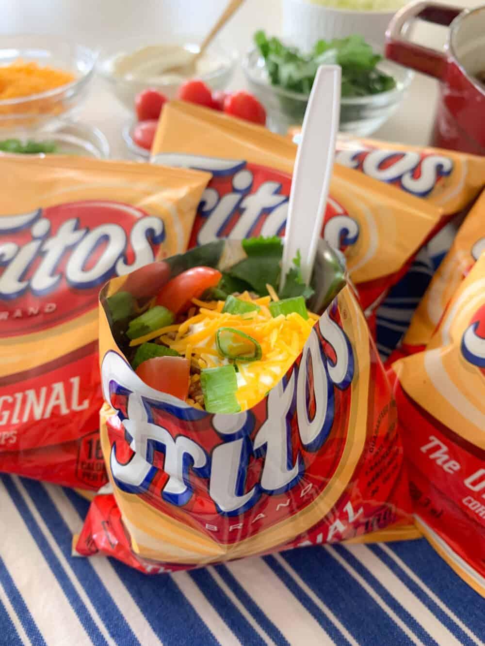 walking taco in frito bag