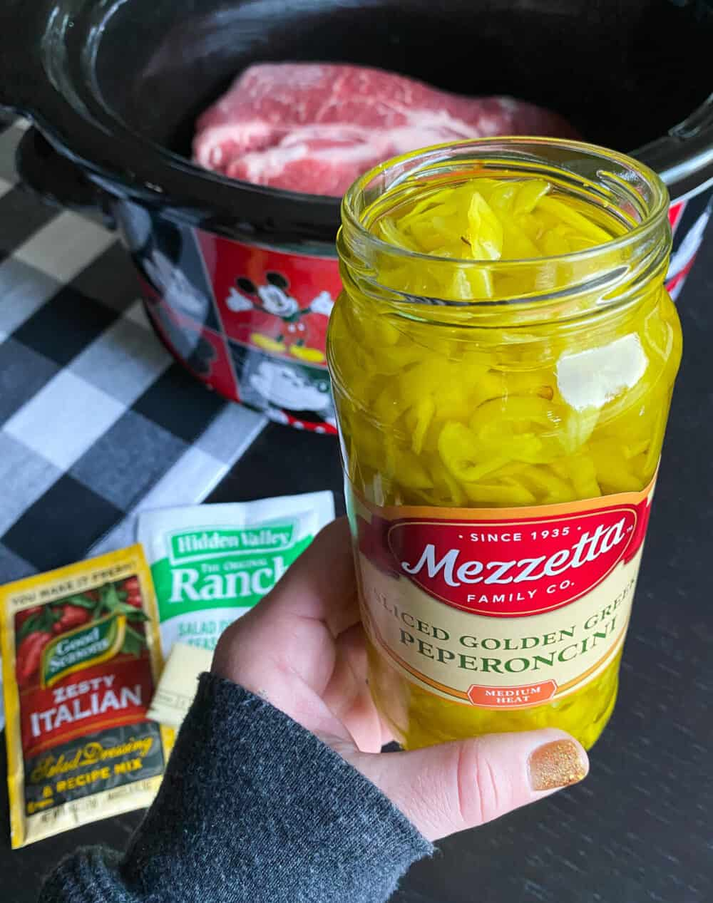 pepperoncini going into mississippi pot roast