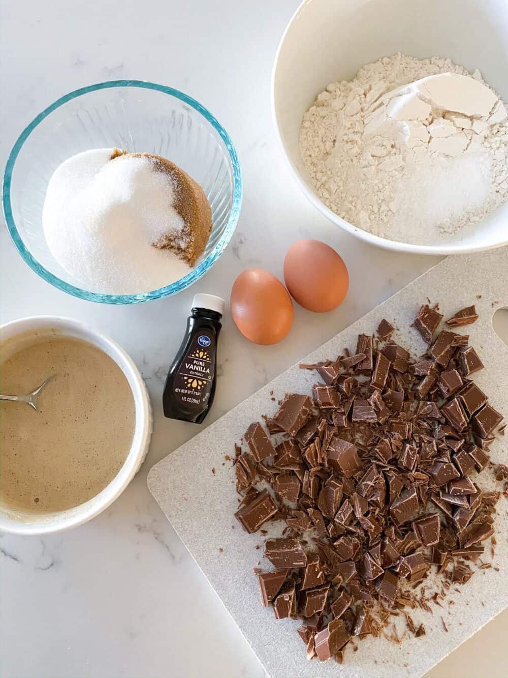 ingredients for brown butter cookies
