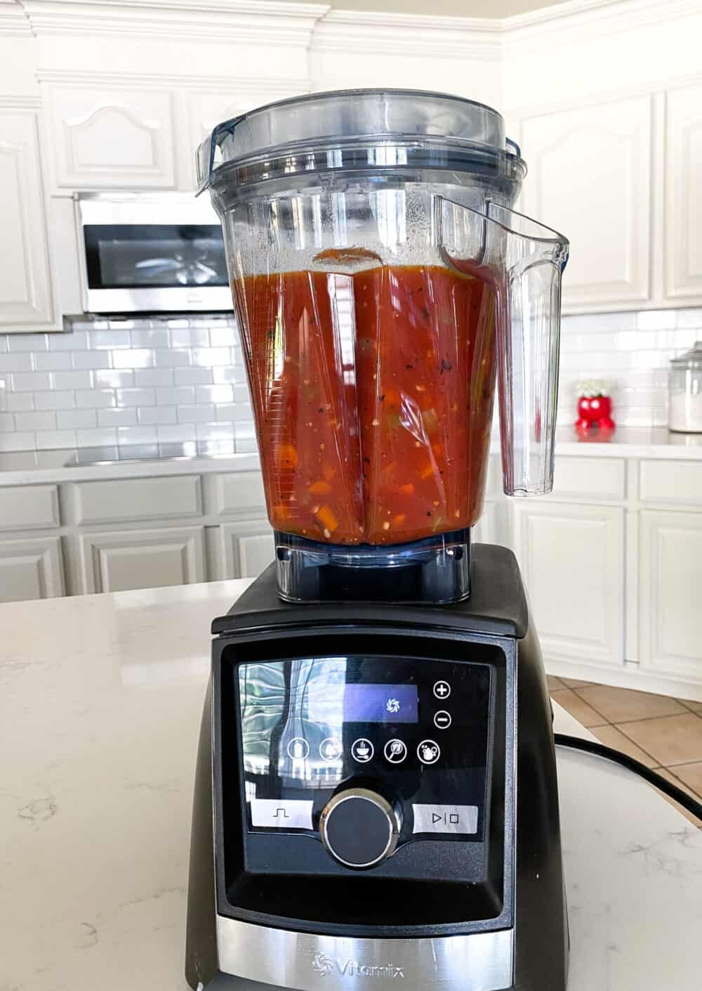 blend tomato bisque until smooth