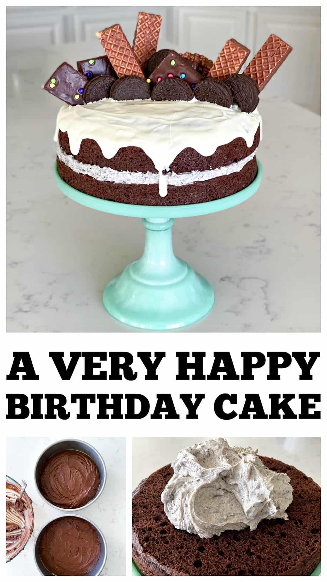 happy birthday cake pin