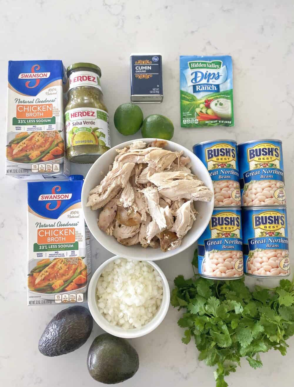 ingredients for white chicken chili