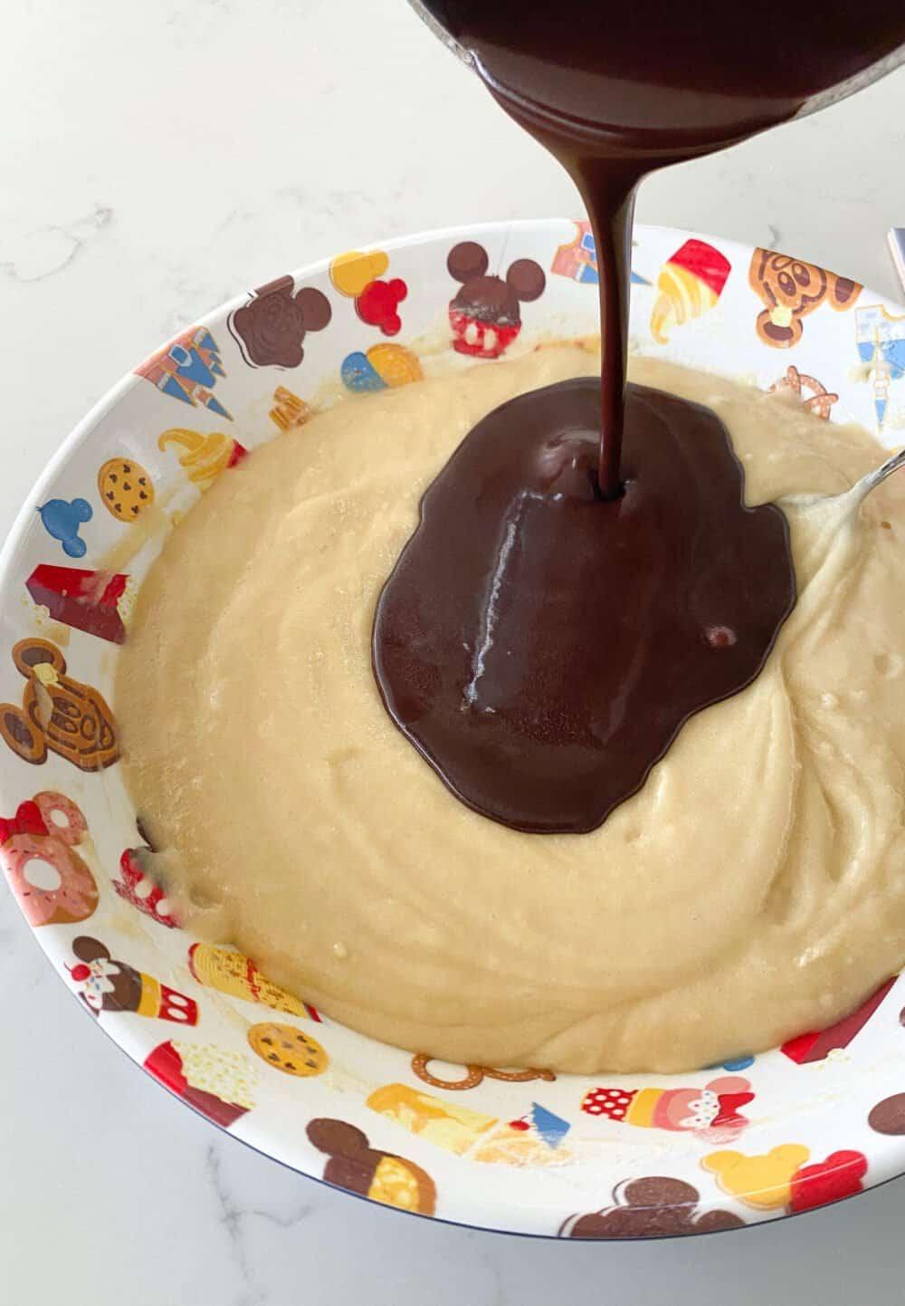 melting chocolate for texas sheet cake