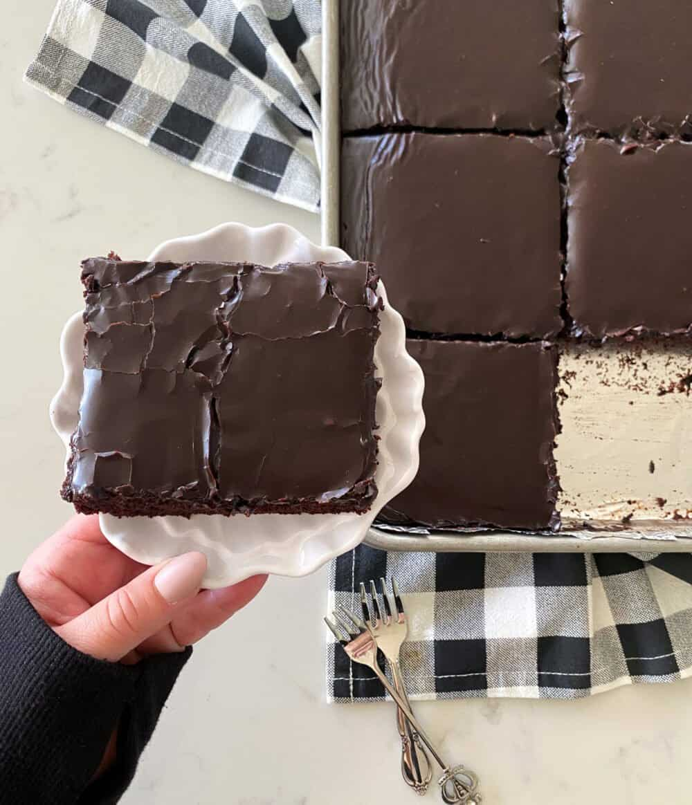 frosted texas sheet cake