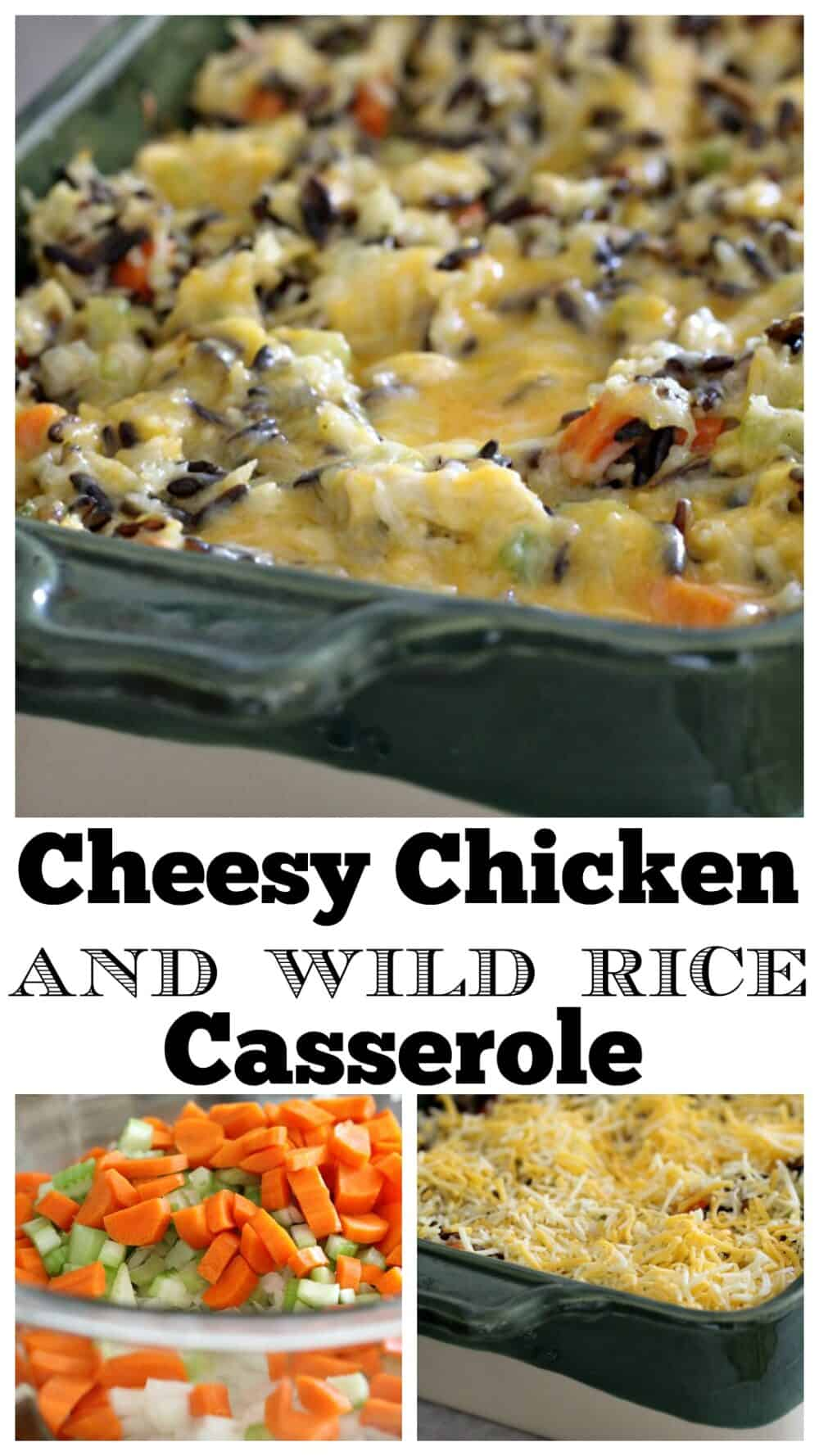 photo collage chicken and rice casserole