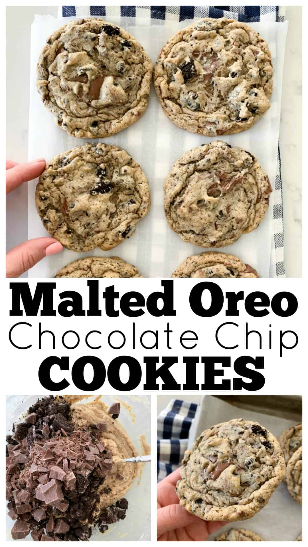 photo collage of chocolate chip cookies