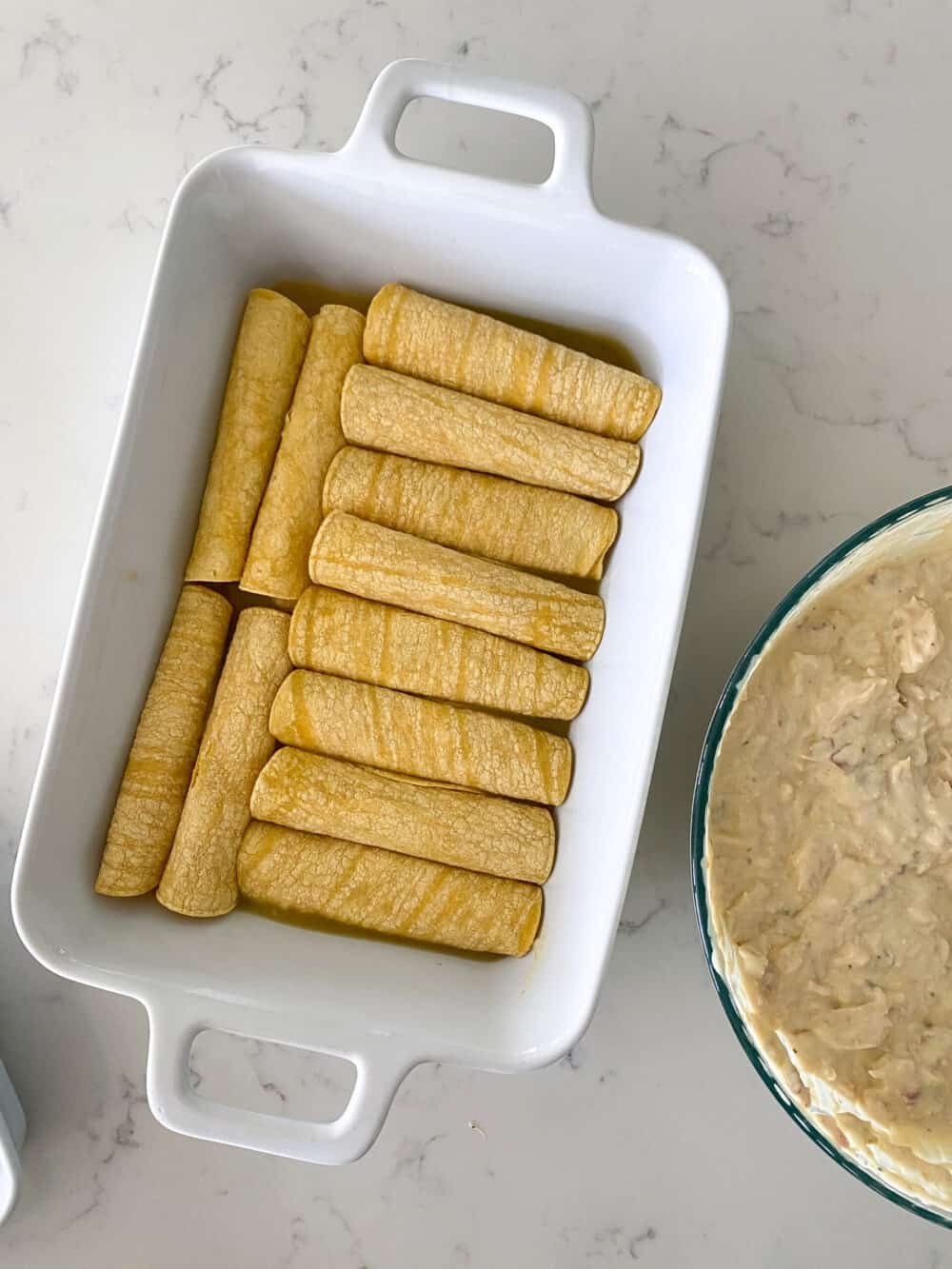filling tortillas with filling