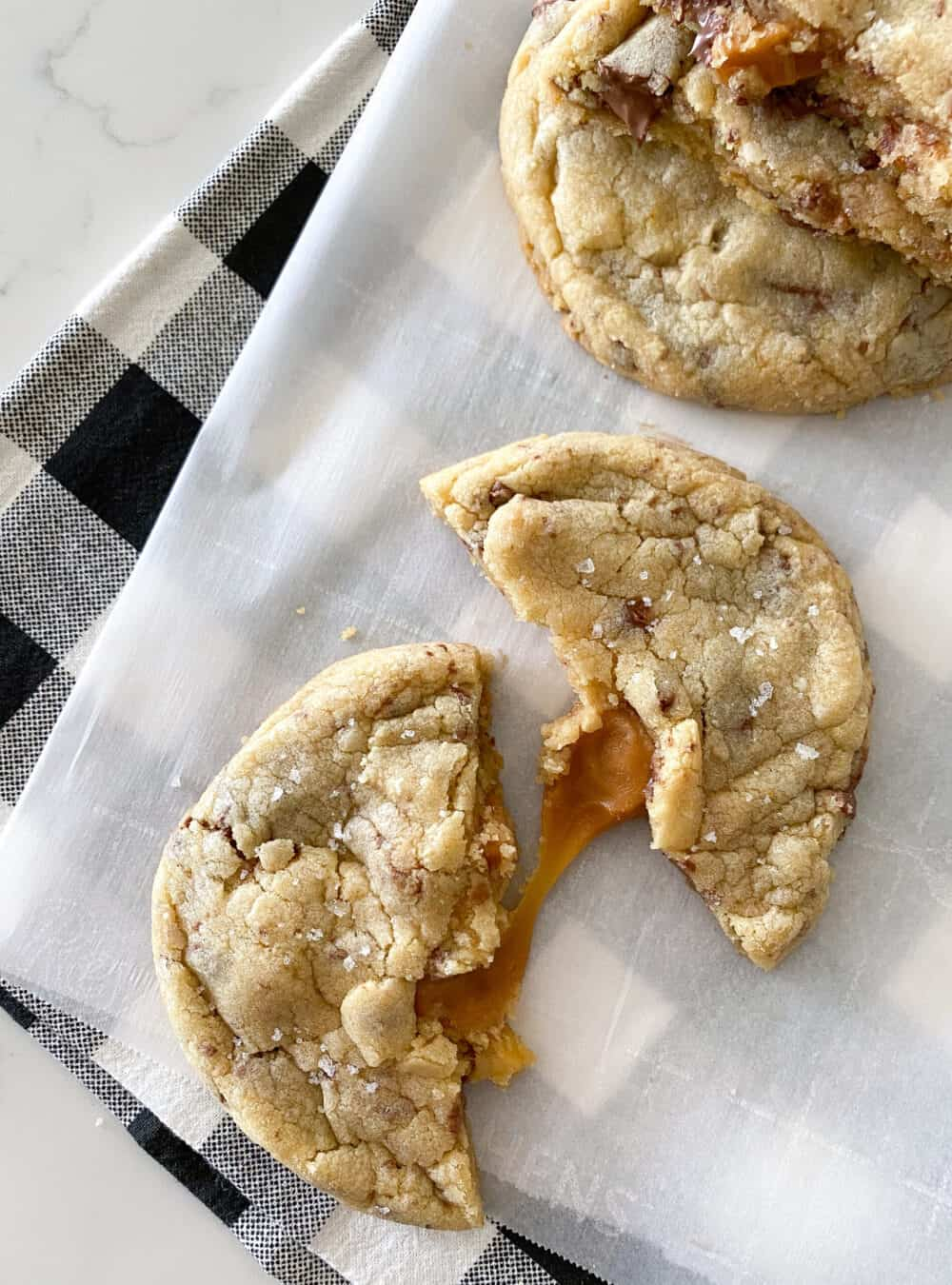 baked salted caramel cookies