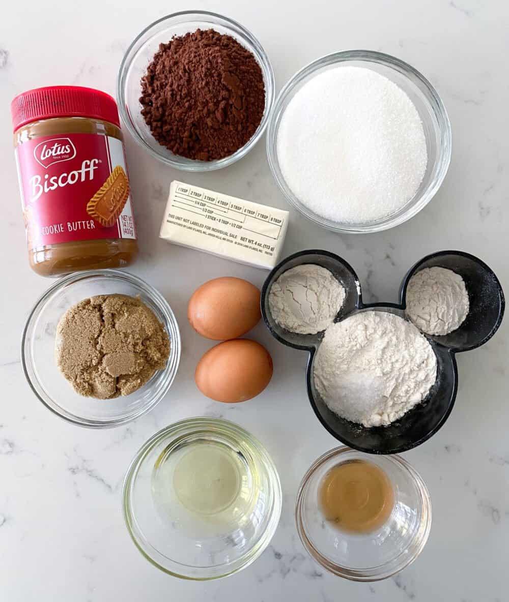 ingredients for easy homemade brownies