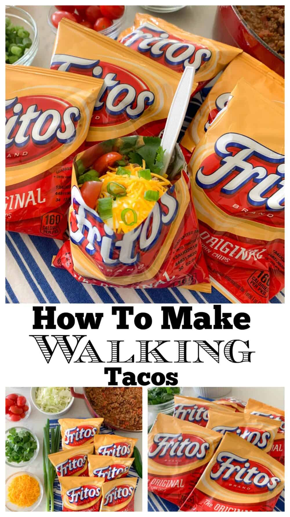 photo collage of walking taco